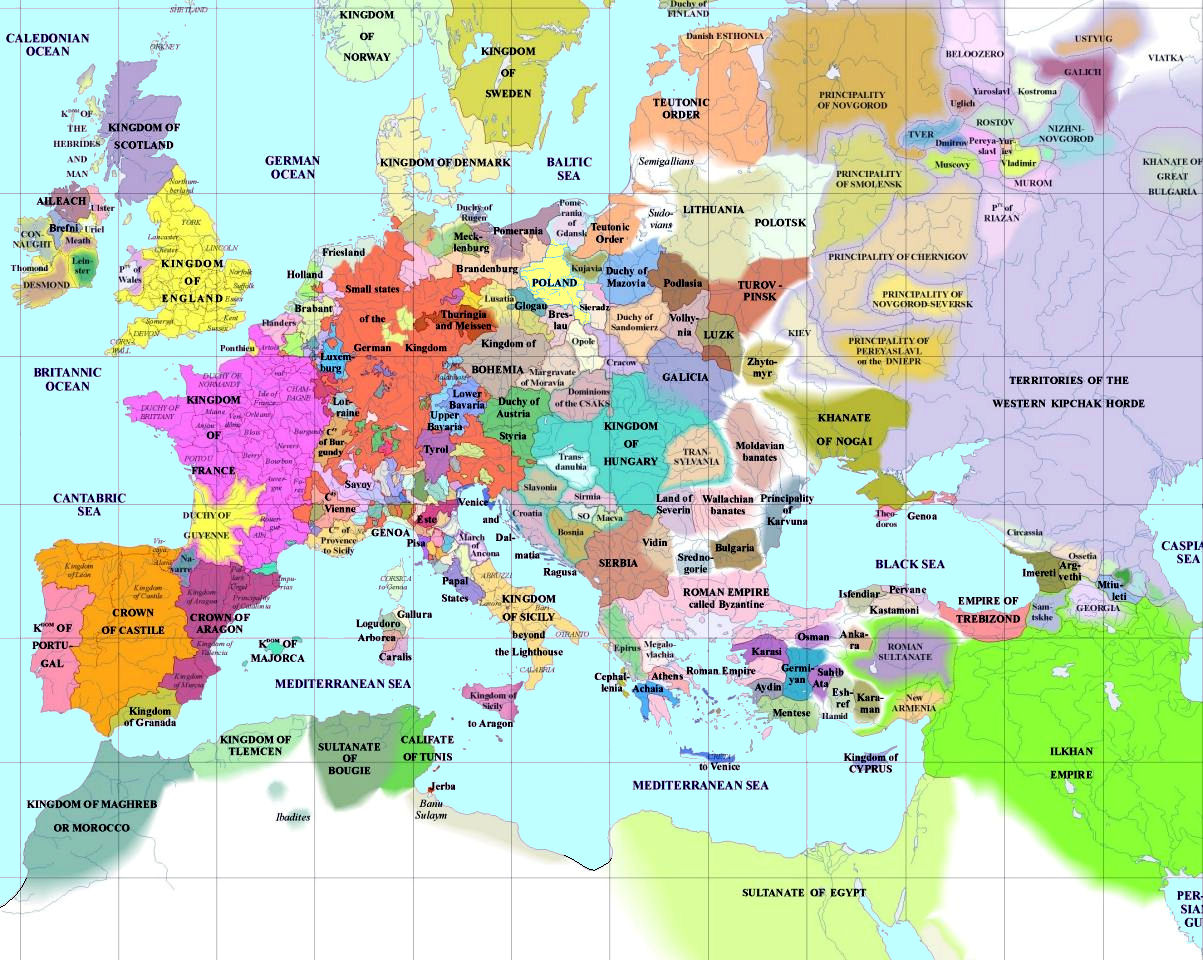 European History Maps – Map of Euprope