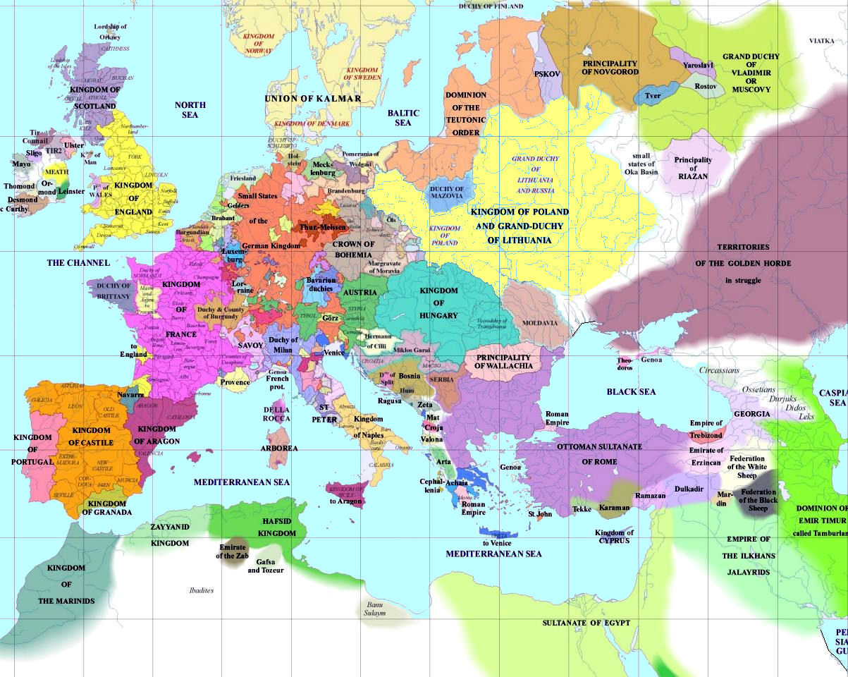 European History Maps - World map europe