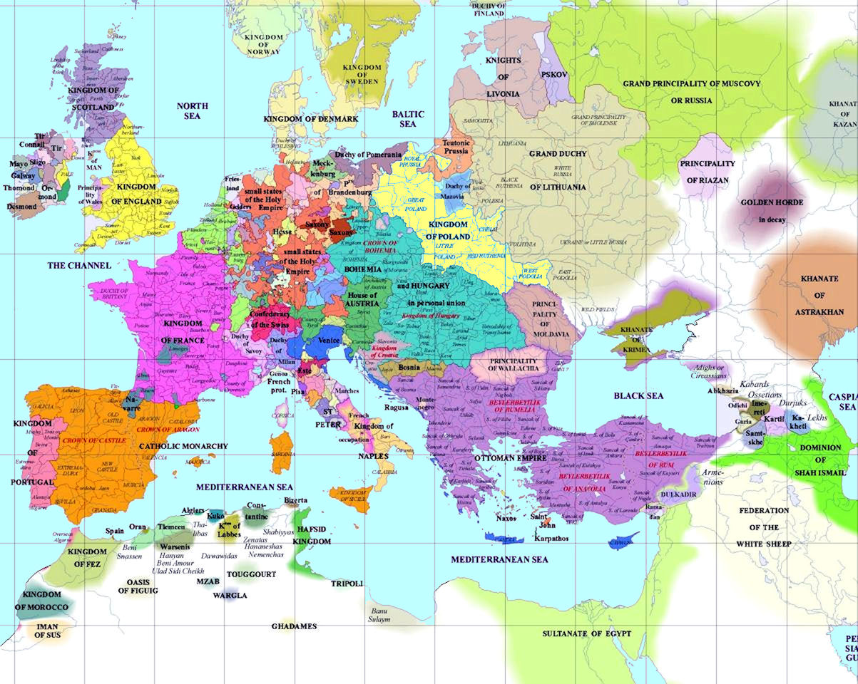European History Maps - European map