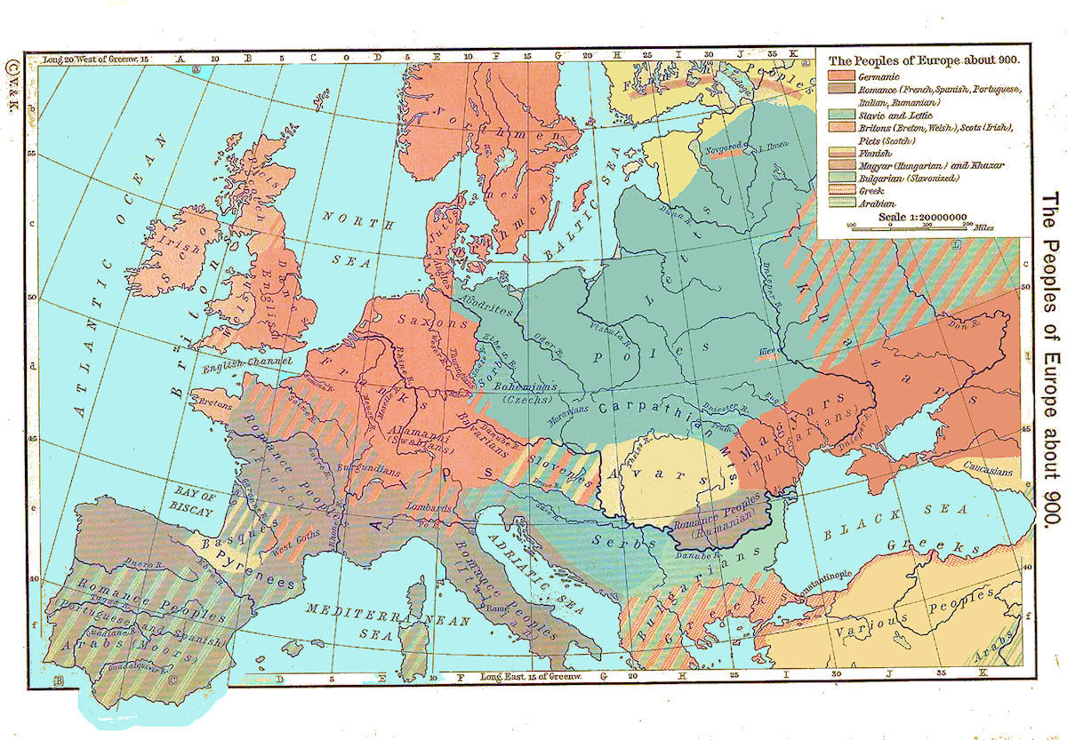Map Of France 900 Ad.European History Maps