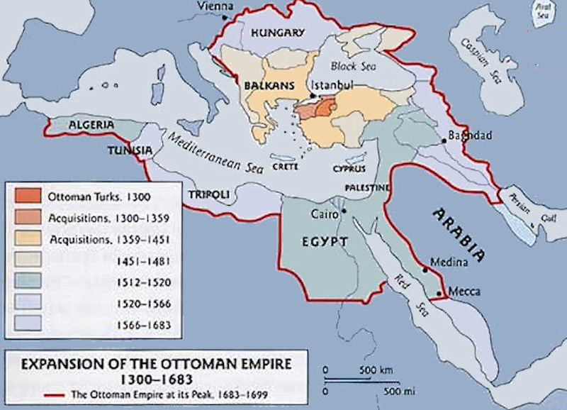 The Ottoman Empire Maps - 1300 us map