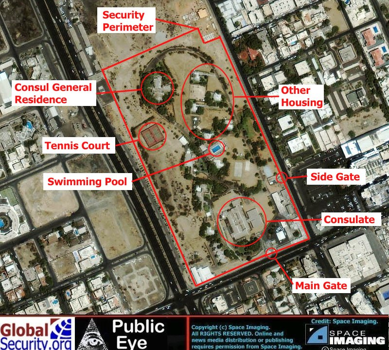 New US Consulate In Jeddah Under Construction Since - Us embassy attacks map