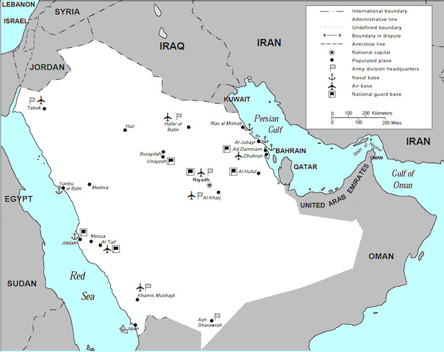 Saudi Arabia Maps - Us Millitary Instilation Maps