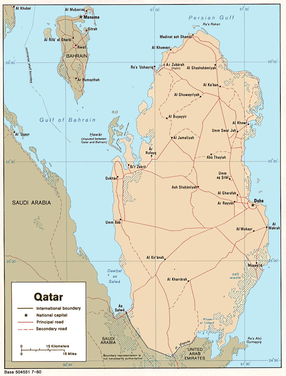 Qatar maps qatar maps click on the small image to view a larger version publicscrutiny Images