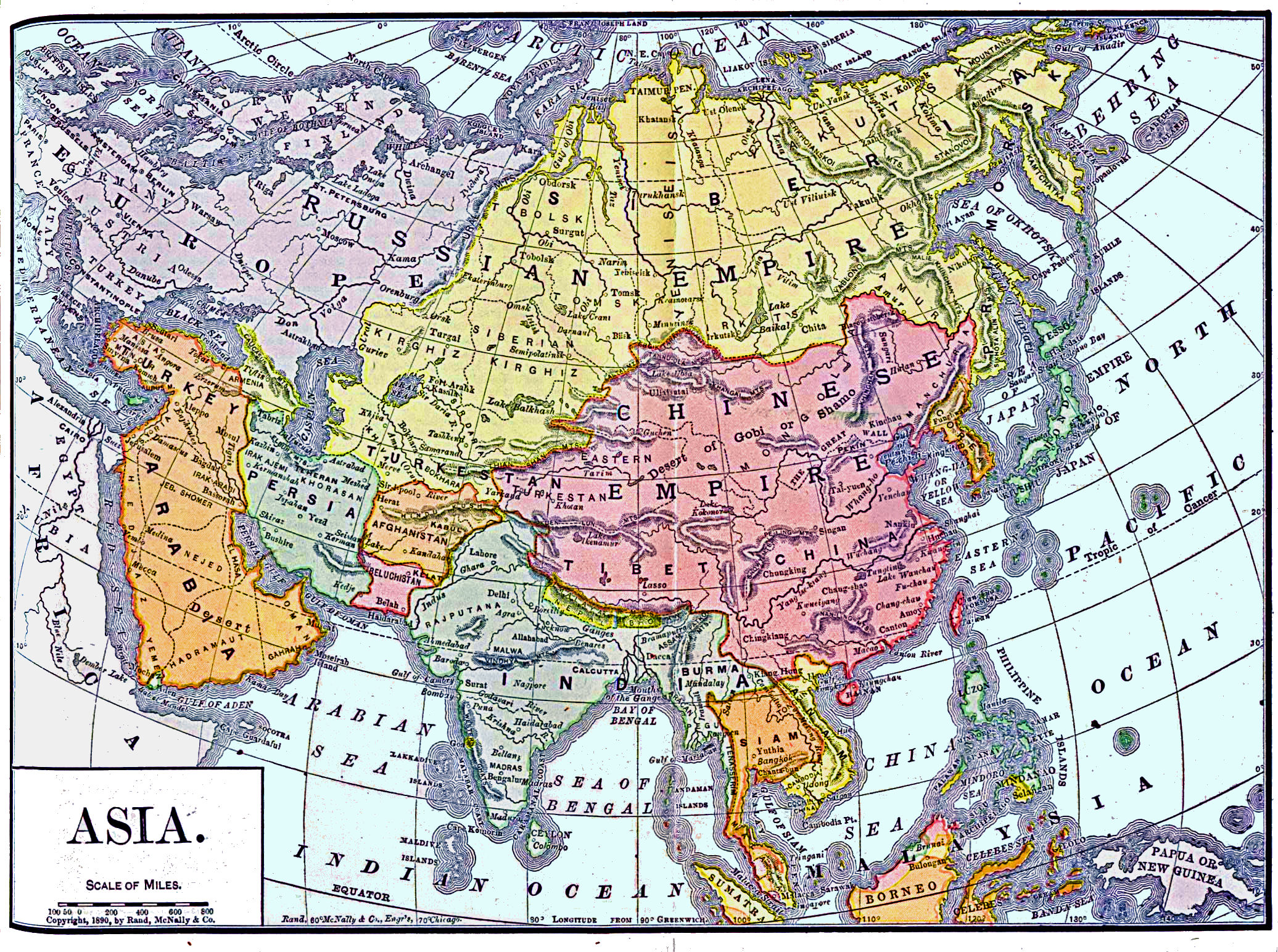Map Of Asia 800.Asia Maps History