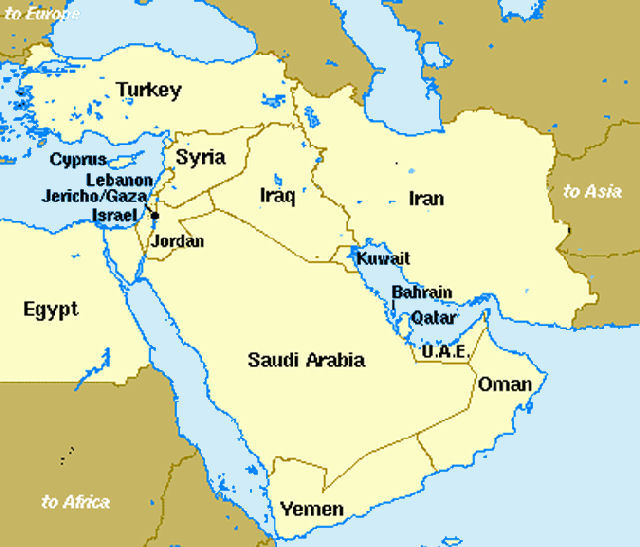 Middle East Maps on Letter I