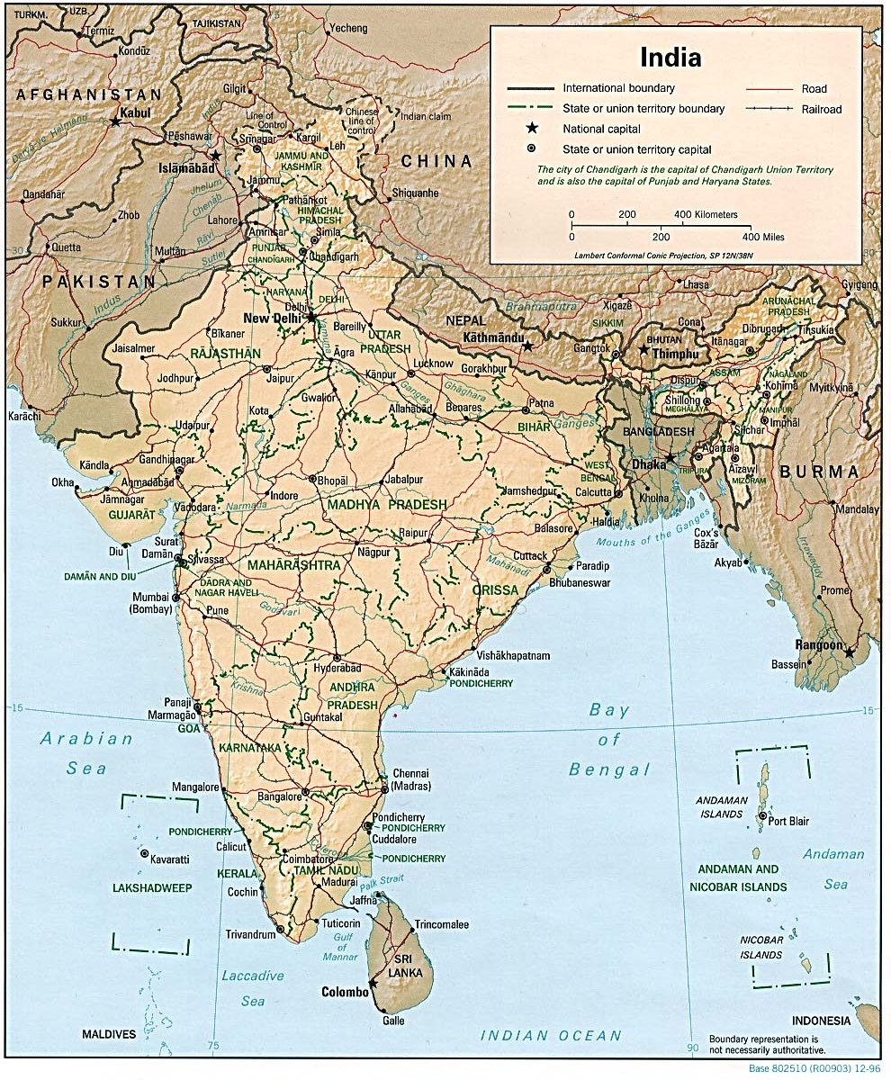 Click images for larger version - India Maps