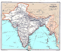 Indian Railway Map Of India.India Historical Maps
