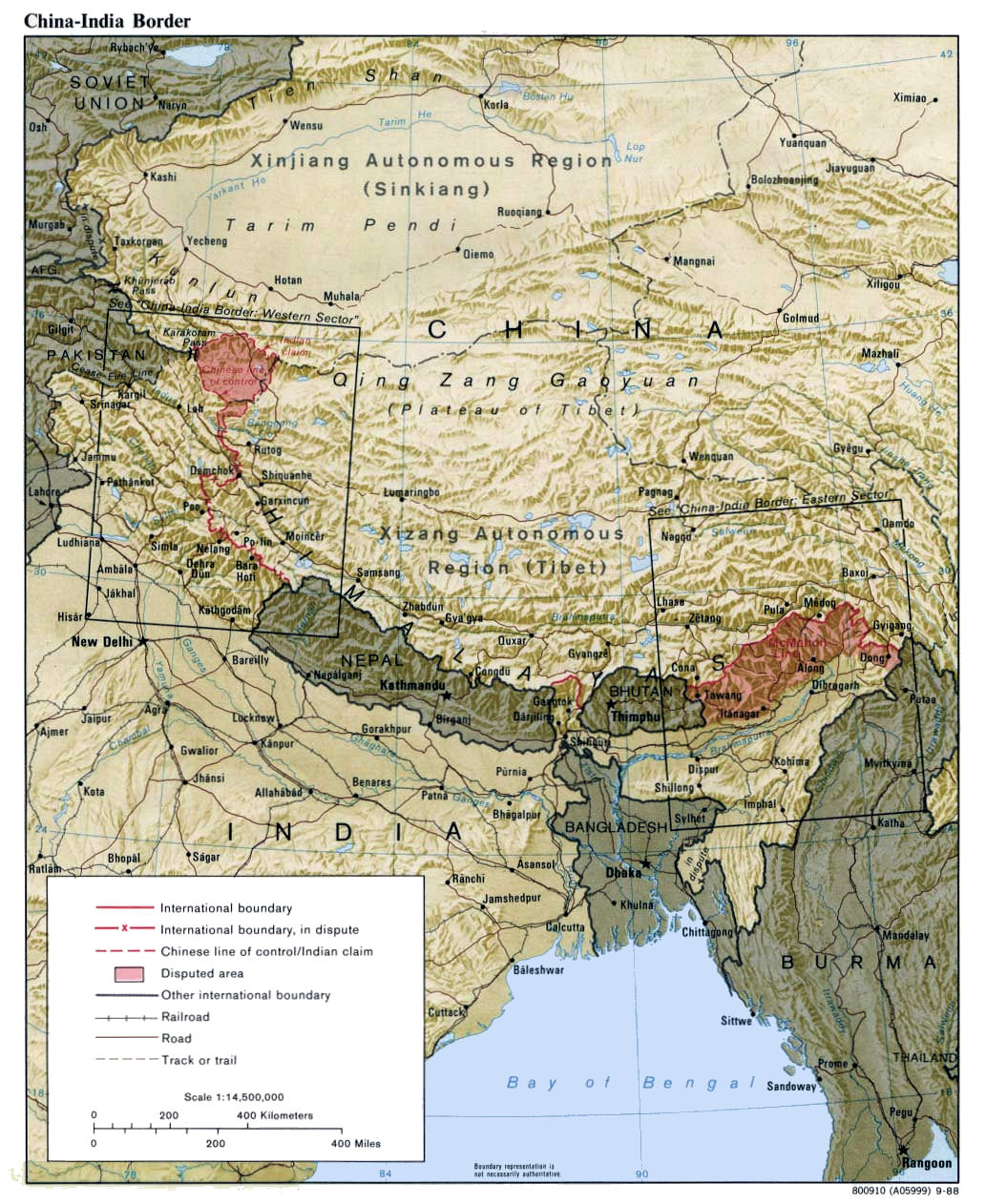 India china border india china border map gumiabroncs Image collections