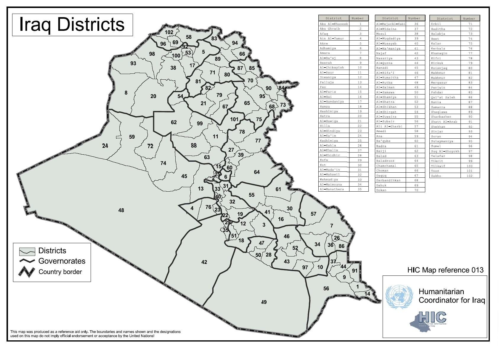 MUSINGS ON IRAQ The State Of Iraqs Provinces – Map of Iraq Provinces