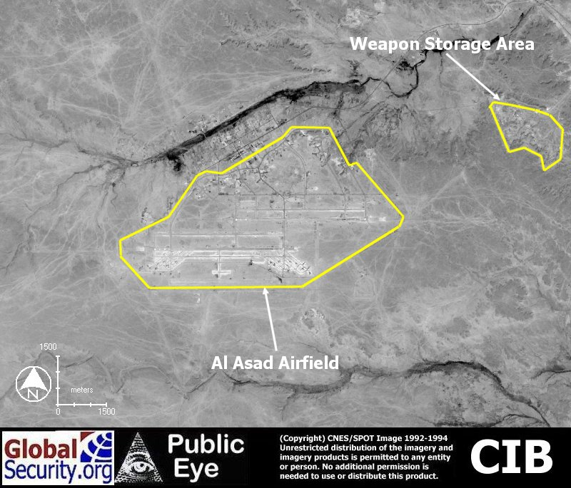 Al Asad Airfield - Map of us bases in iraq