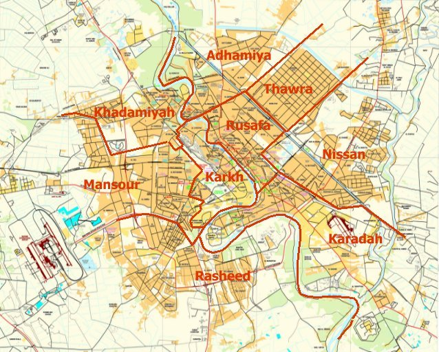 Baghdad District Map 2
