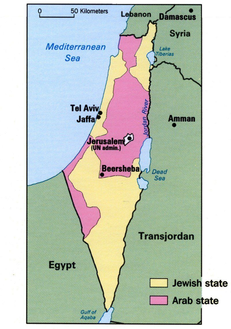 Israel - Un map of egypt