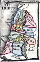 Map - 12 Tribes of Israel