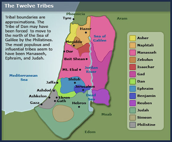 Maps - 12 Tribes of Israel