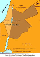 Map Transjordan Partition 1921