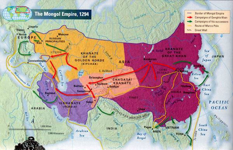 Mongolia maps mongolia history map 1294 ad gumiabroncs Gallery