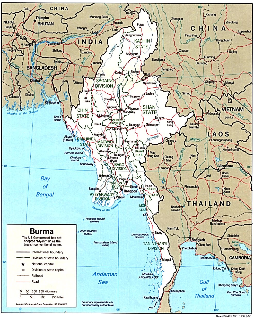 Myanmar maps political 1996 gumiabroncs Gallery