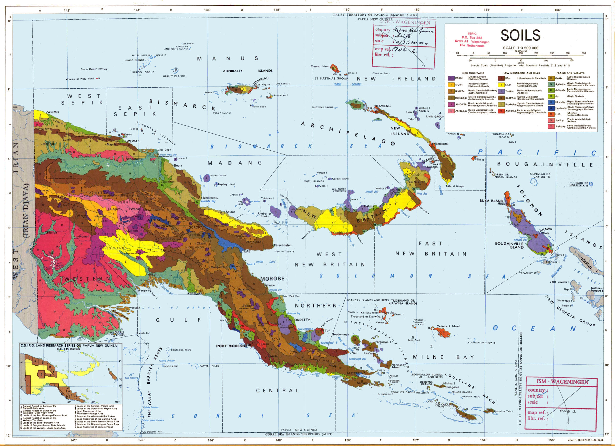 Soil map of Papua New Guinea [2400x1742] : Map New Guinea Map on