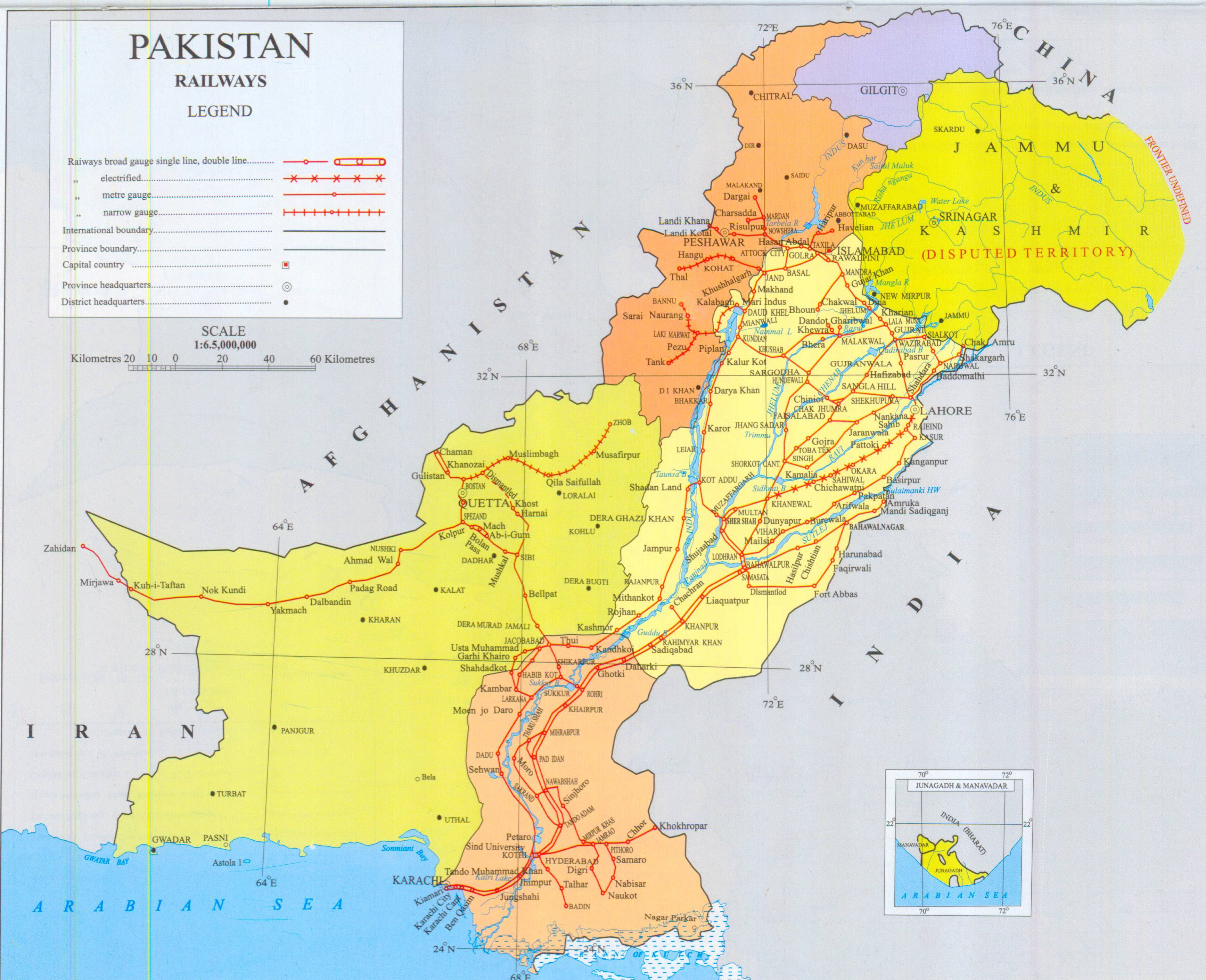 Pakistan Maps - Map of pakistan