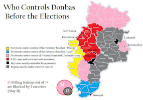 Donbass Map - 2014