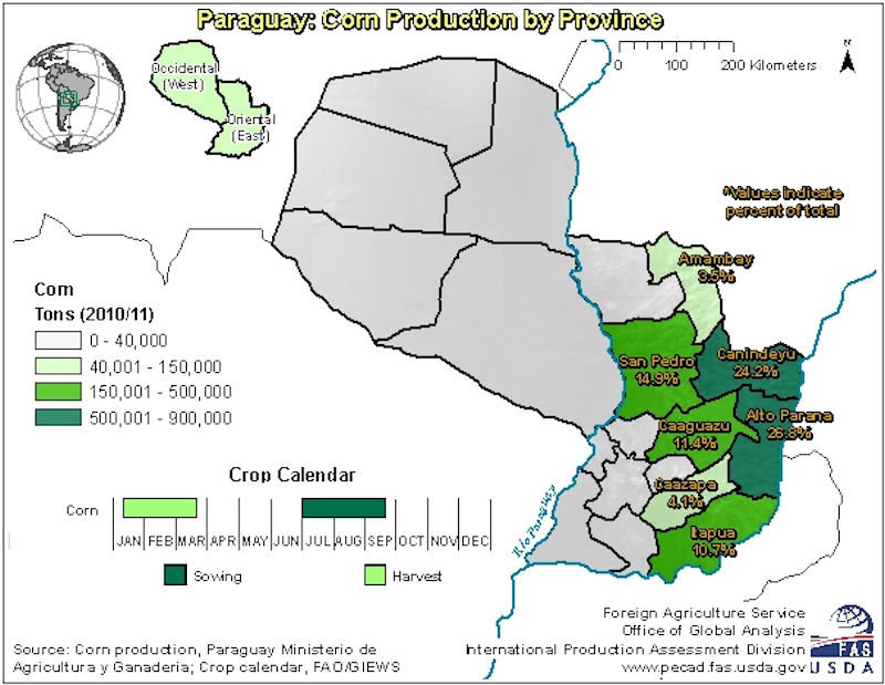 Paraguay Maps - Map of paraguay world