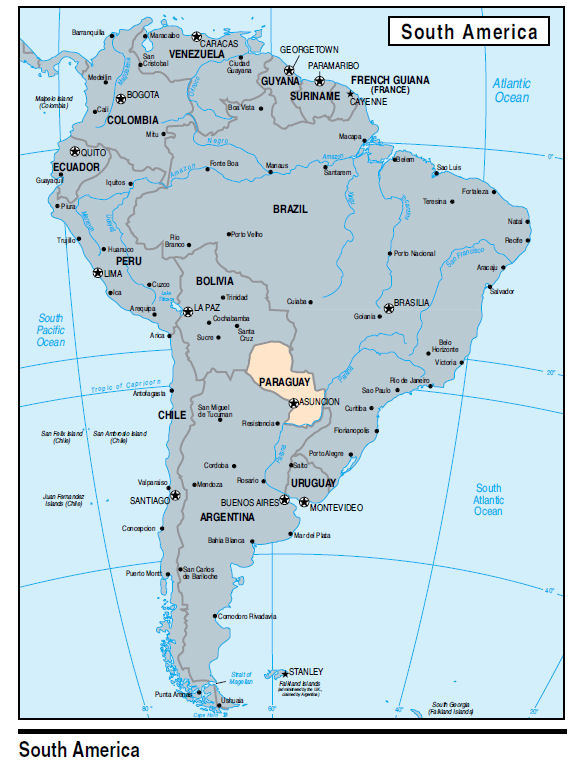 Paraguay Maps - Map of paraguay