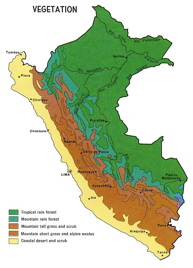 Peru Maps - Clear map of italy
