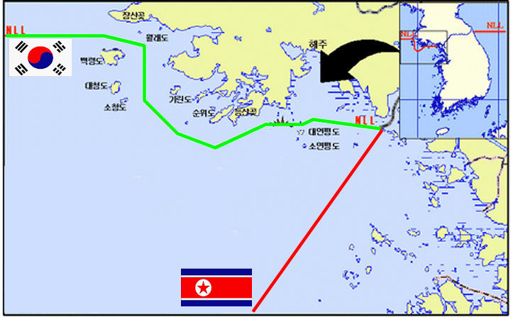 Northern Limit Line NLL West Sea Naval Engagements - Us government map nll