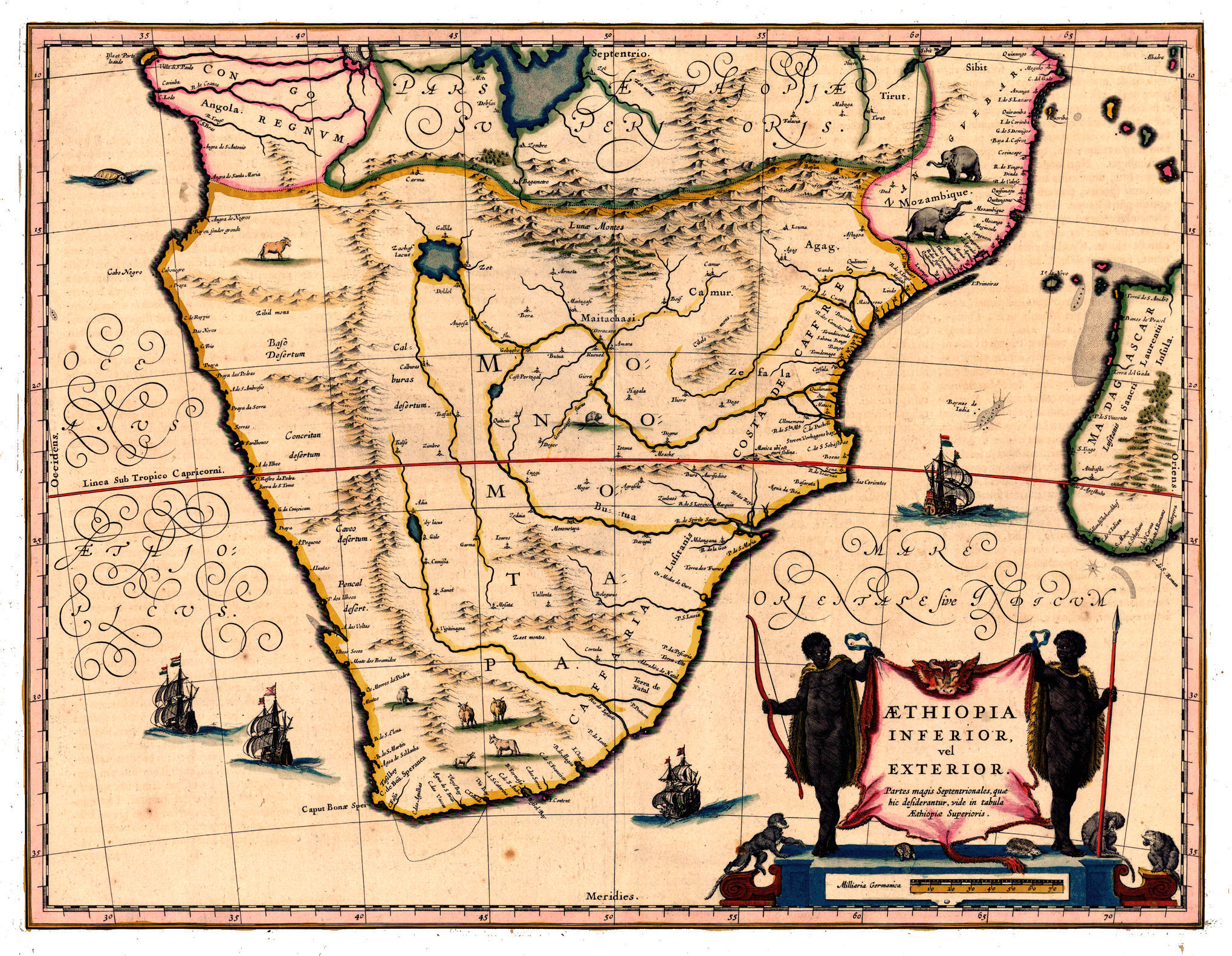 Map Of Africa 1850.South Africa History Maps