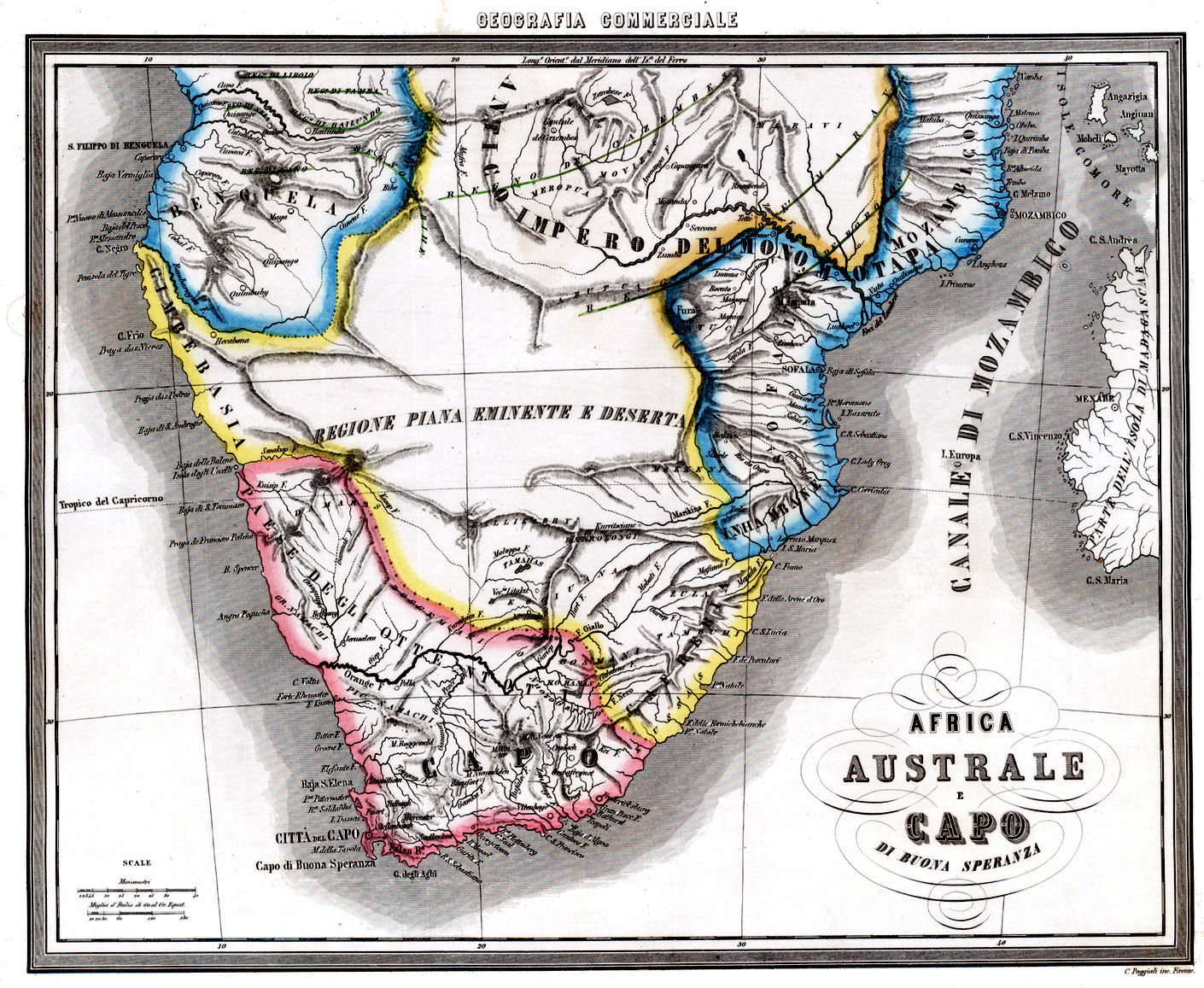 South Africa Colonized South Africa Map 1850