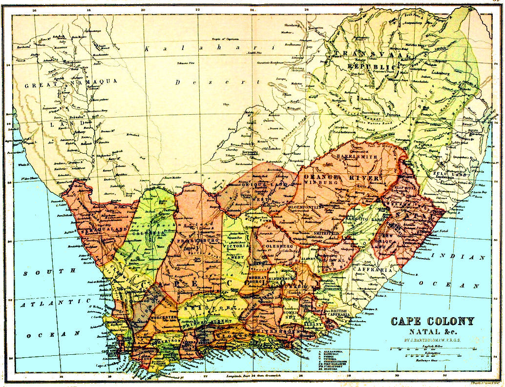 South Africa History Maps - Map of south africa