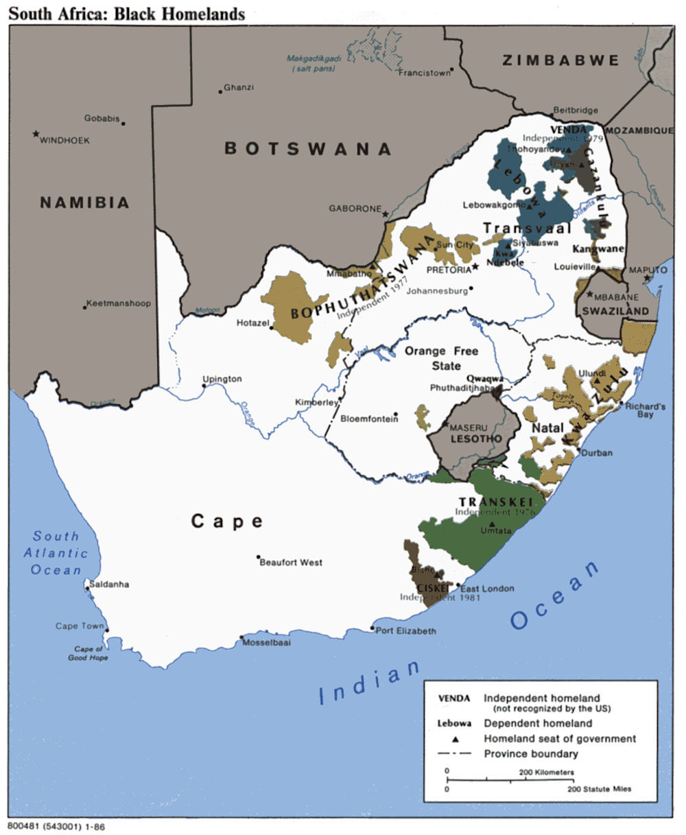 South African Native Plants: History Maps