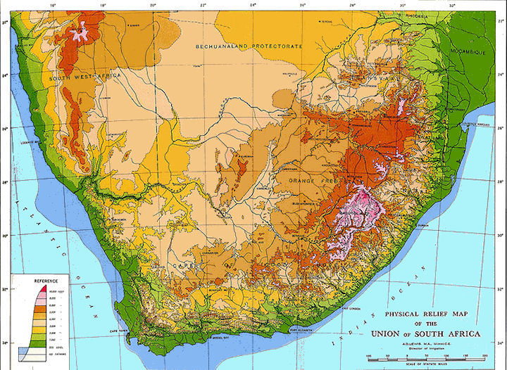 South Africa Elevation Map ~ CINEMERGENTE