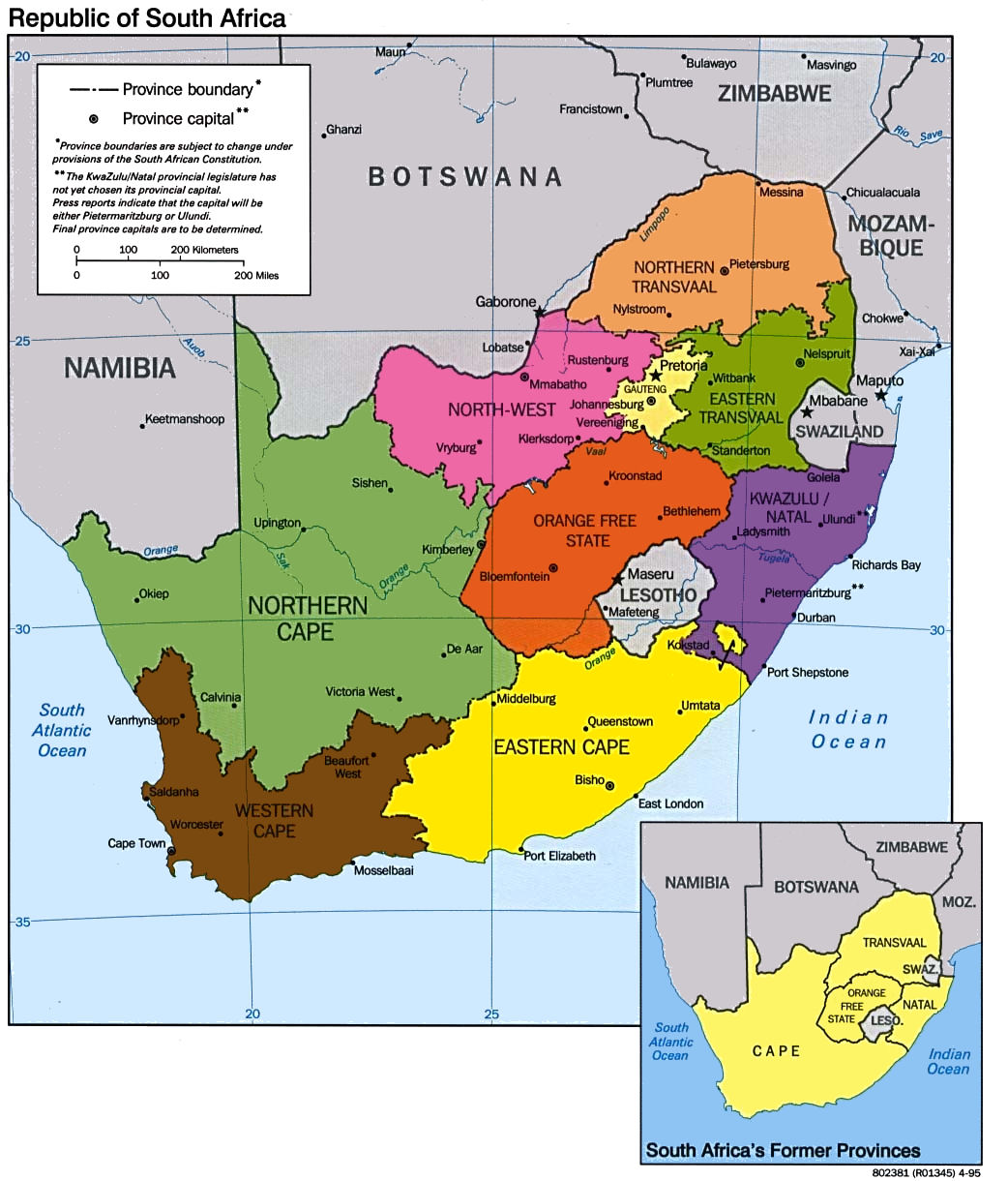 South Africa Maps - Map of world africa