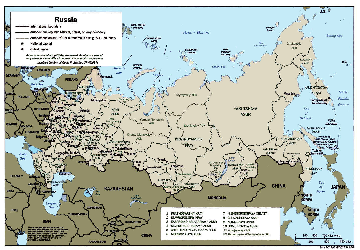 Russian Map Of Russia.Maps Of Russia And The Soviet Union