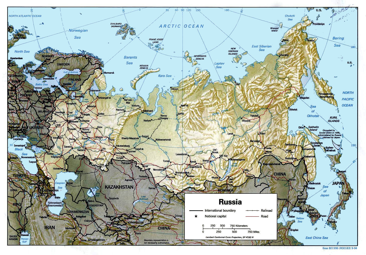 Maps Of Russia And The Soviet Union - Map of russia