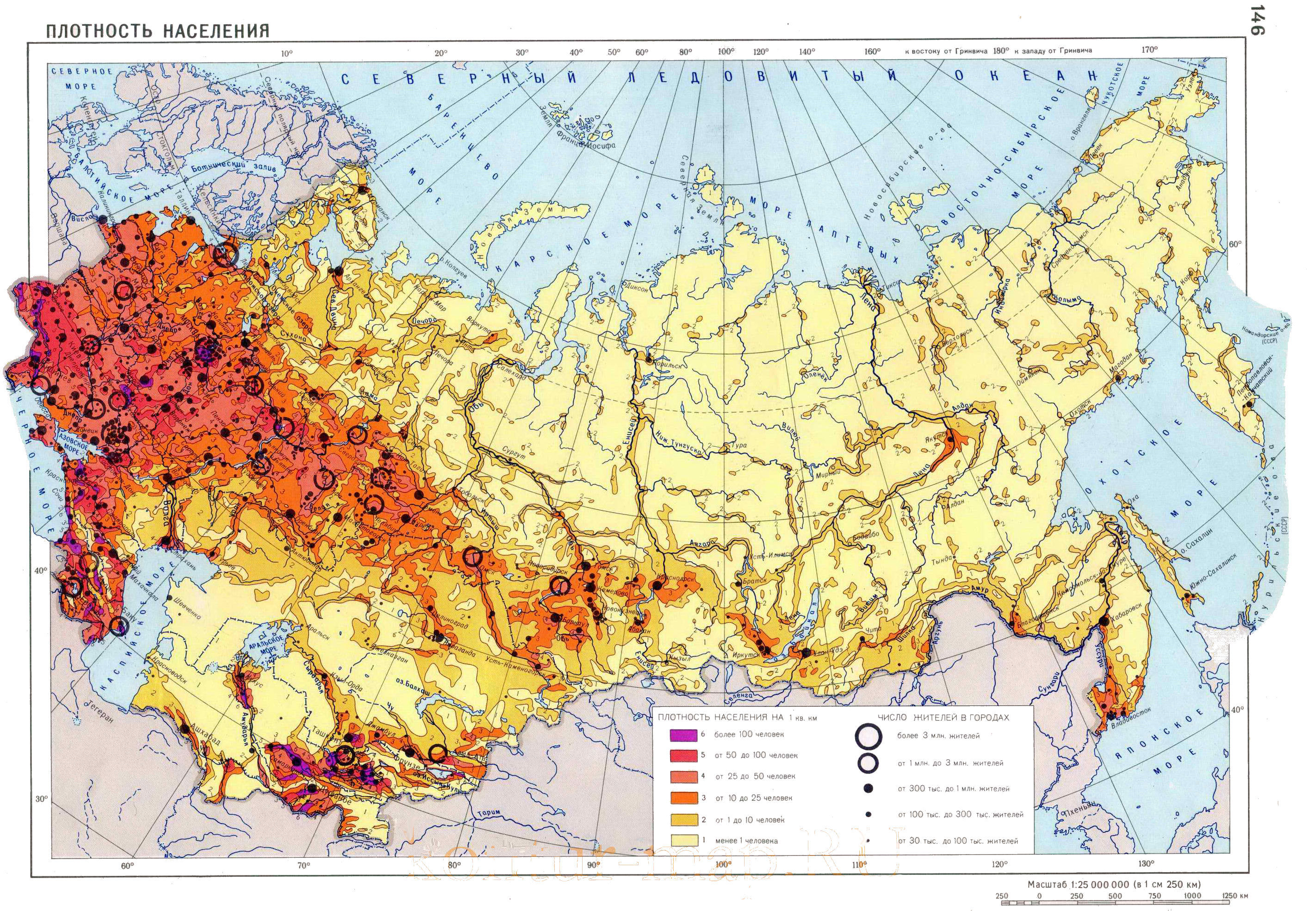 Russia Population Density Map My Blog - Russia on a map