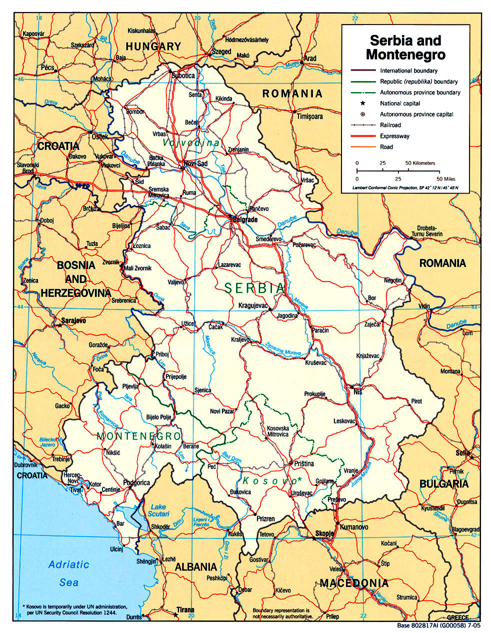 Serbia Maps - Map of serbia