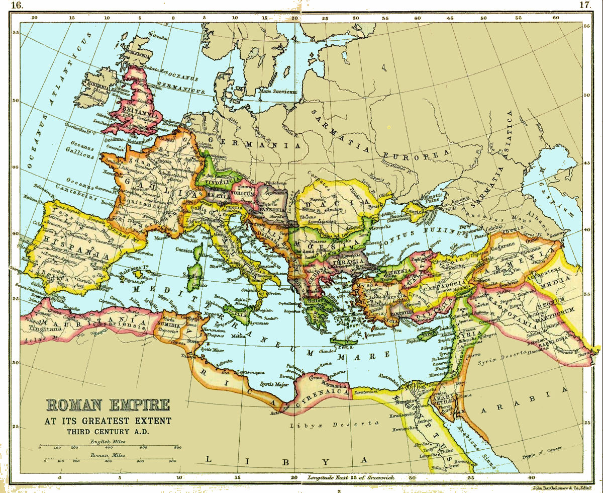 Roman Empire Maps - Map of rome 400 ad