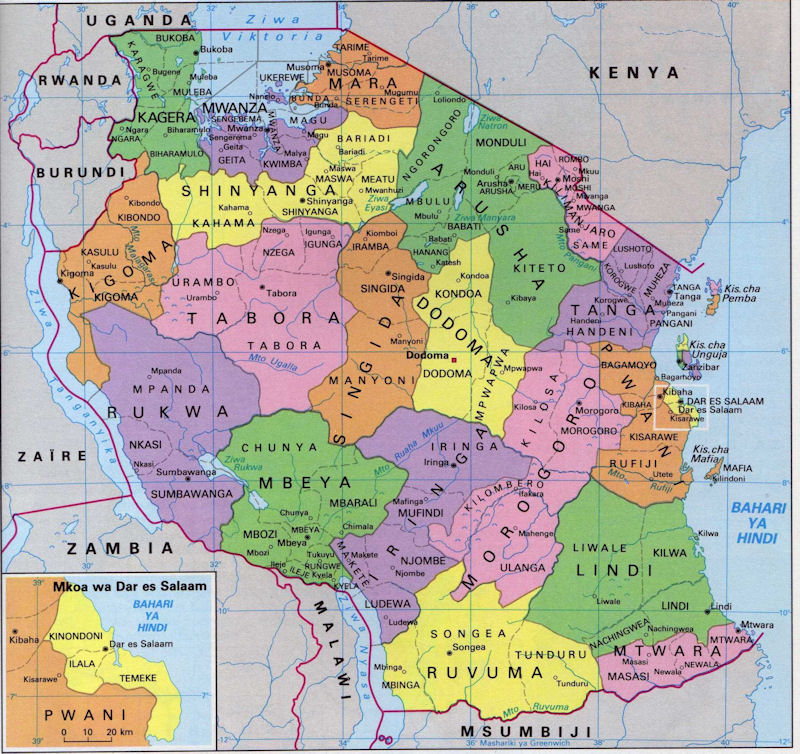 Image result for the map of tanzania