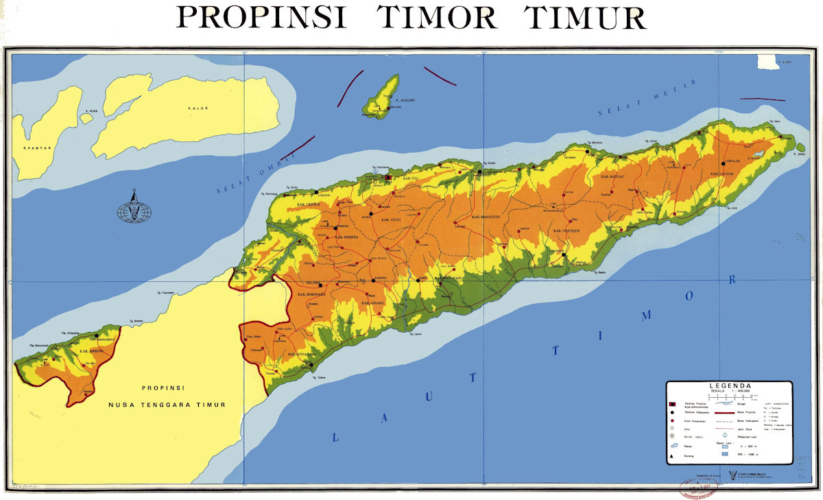 Timor world map