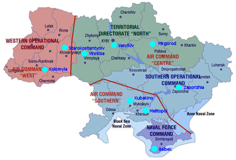 Air Force Ukraine - Map Of Naval Aviation Basesin The Us