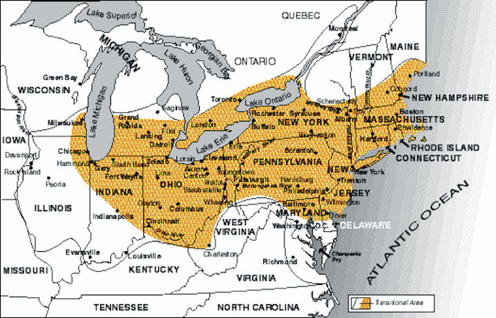 USA - Rust Belt - Mineral Resources In Rust Belt Map Of Usa on red states in usa, tornado alley in usa, bible belt in usa,