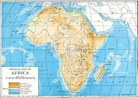 Africa Map - Physical