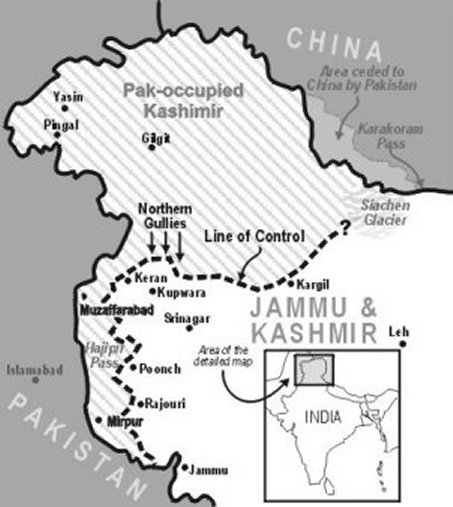 Physical Map Of Kashmir