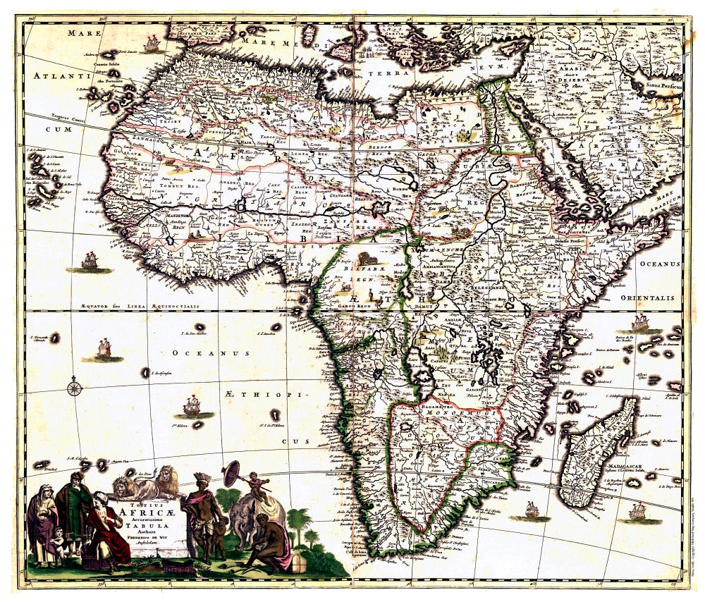Old World Map Africa