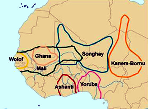 The scramble for africa african kingdoms west african kingdoms west africa map sciox Gallery