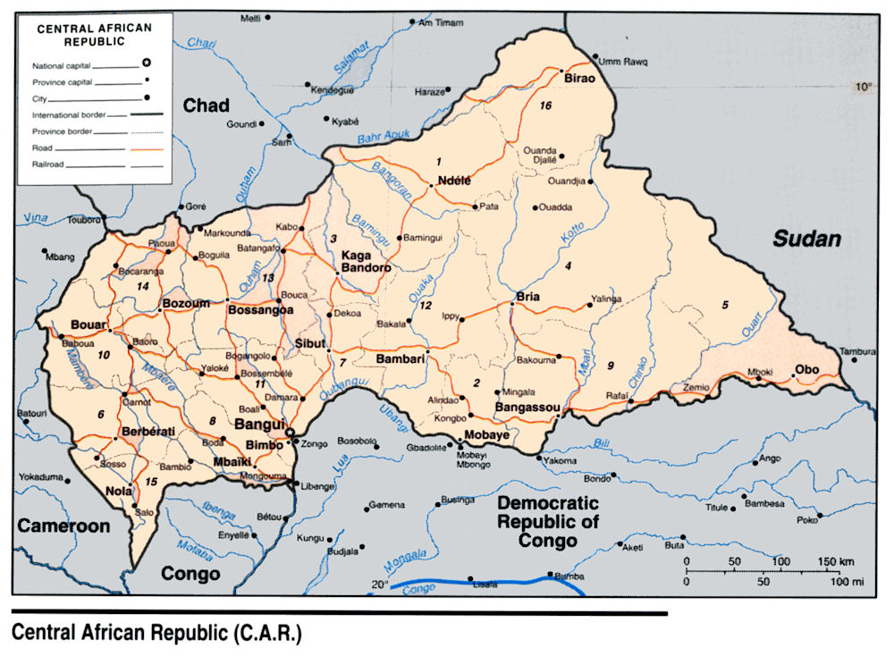 Central African Republic Maps
