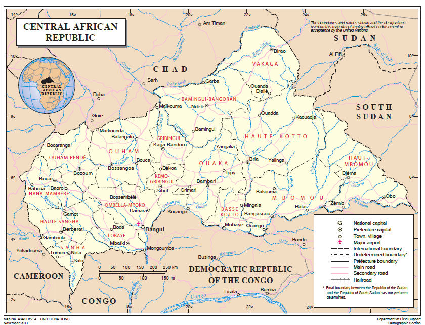 Central African Republic Maps - Central africa map
